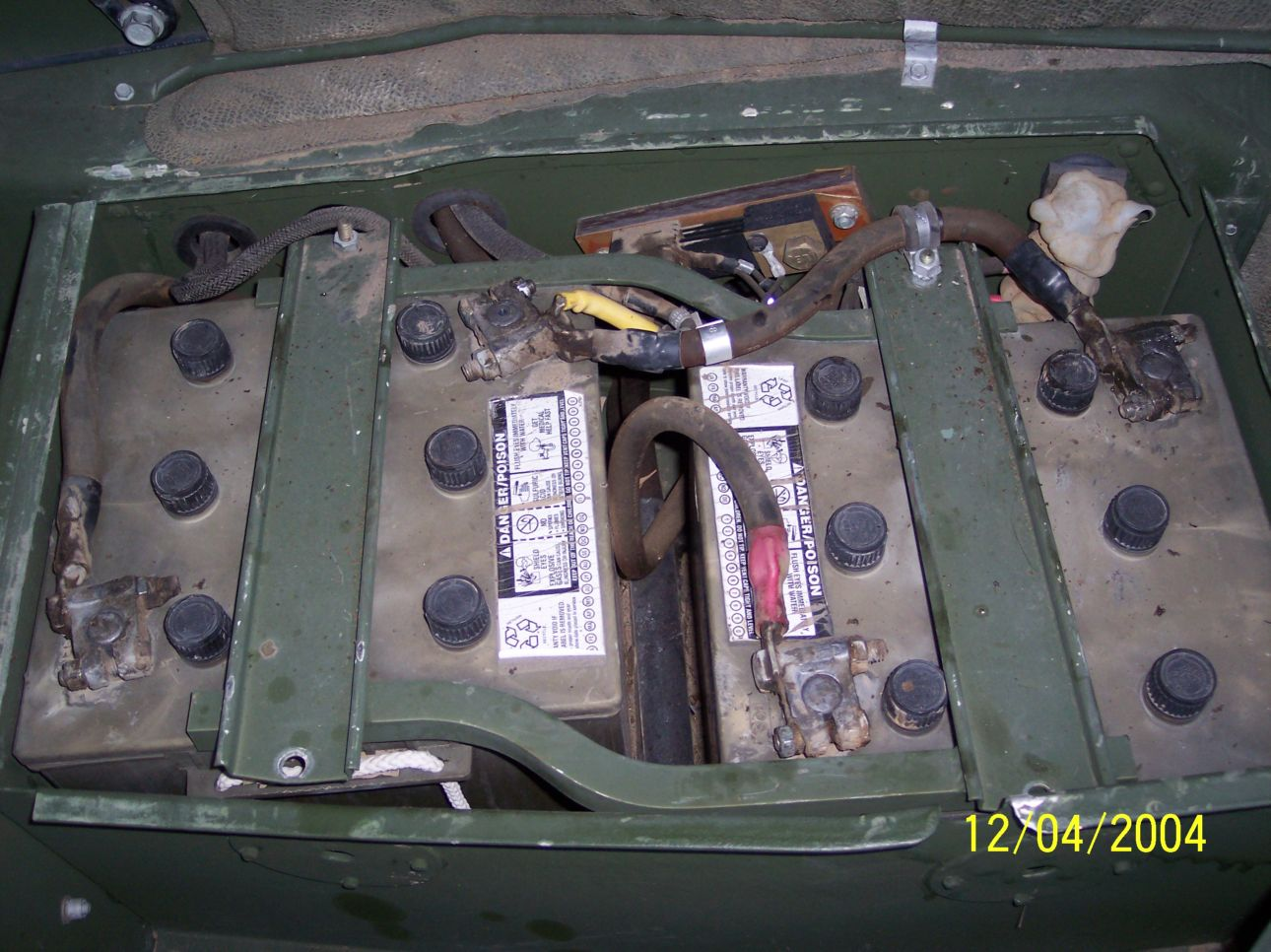 humvee battery location