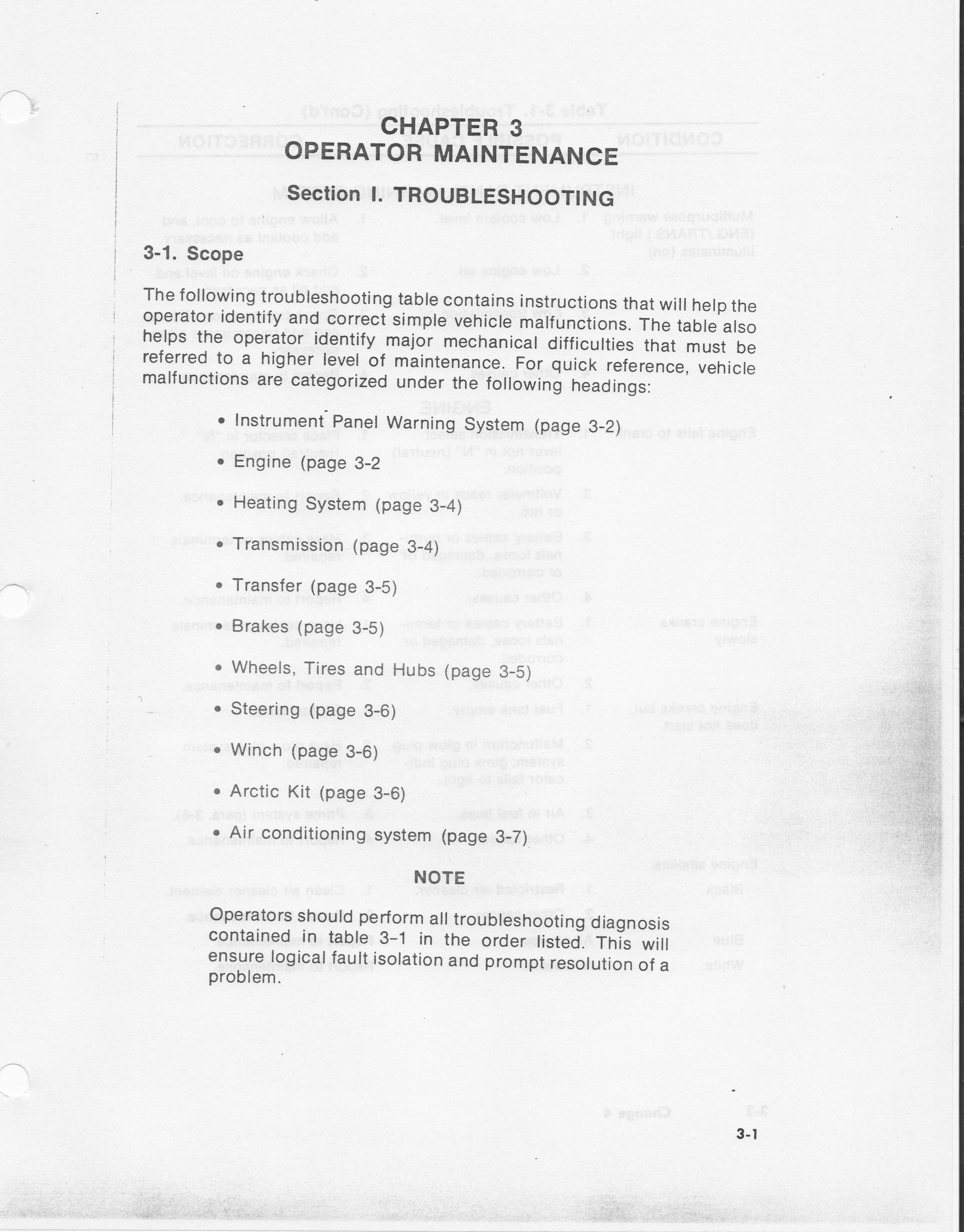 hmmwv maintenance manual